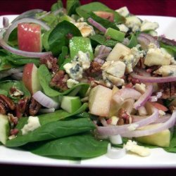 Spinach Salad with Blue Cheese recipe