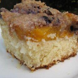 Blueberry Peach Coffee Cake recipe