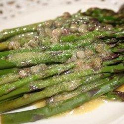 Asparagus With Lemon Caper Vinaigrette recipe