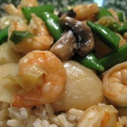 Shrimp With Snow Peas and Water Chestnuts recipe
