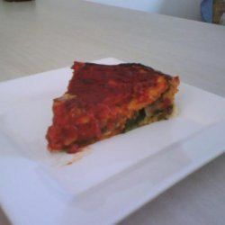 Chicago-Style Stuffed Spinach Pizza recipe