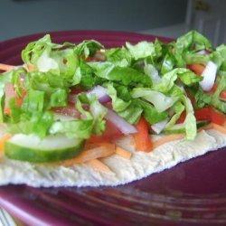 Hummus and Veggie Wrap recipe