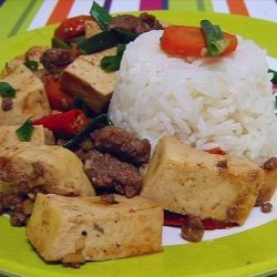 Hot and Spicy Tofu and Beef recipe