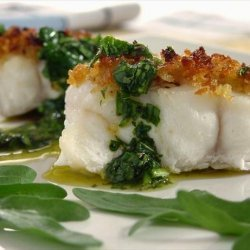 Roasted Halibut With Fresh Herb Sauce recipe