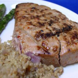 Bek's Grilled Tuna Steaks Glazed With Ginger, Lime, and Soy OAMC recipe