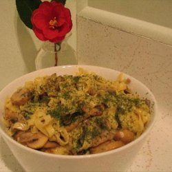 Cheesy Noodles and Mushrooms recipe