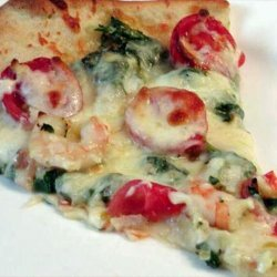 Simply Delicious Shrimp and Spinach Pizza recipe