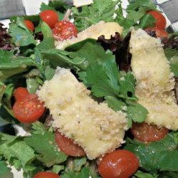 Spring Greens With Toasted Cheese recipe