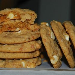 Honey Roasted Peanut Butter Toffee Swirl Cookies recipe