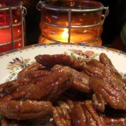 Kahlua Glazed Pecans recipe