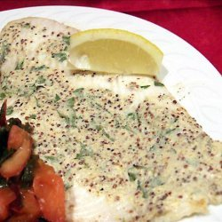 Broiled Sole With Mustard Sauce recipe