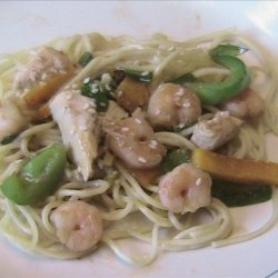 Pasta with Chicken and Shrimp recipe