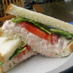 Tuna Fish Salad on a Bed of Lettuce recipe