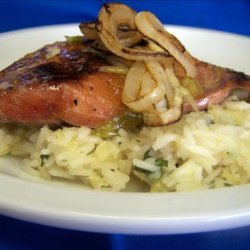 Grilled Chipotle Salmon With Pineapple Cilantro Rice recipe