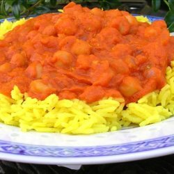 Chickpea Curry (Indian Style) over Basmati Rice recipe
