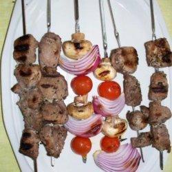 Kittencal's Greek Souvlaki (Grilled Skewered Lamb or Pork) recipe