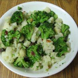 Broccoli and Cauliflower with Pine Nuts and Raisins recipe
