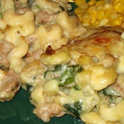 Baked Macaroni and Gouda Cheese With Italian Sausage recipe