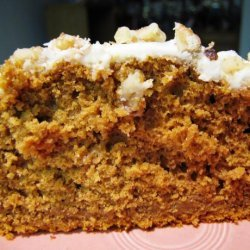 Pumpkin Spice Cake With Orange Buttercream Frosting recipe
