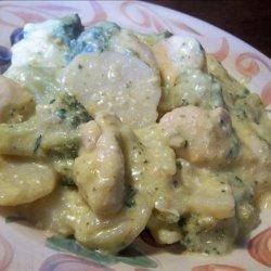 Slow Cooker Cheesy Broccoli Chicken Casserole recipe