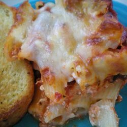 Baked Ziti With Thick Rich Meat Sauce recipe