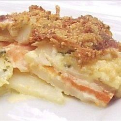 Creamy, Cheesy Potato and Kumara Bake recipe