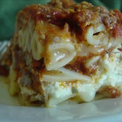 Company's Coming Layered Ziti Casserole recipe