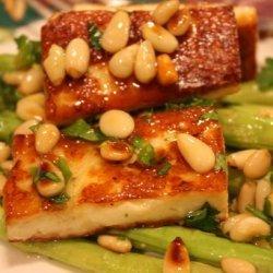 Asparagus, Halloumi and Pine Nut Salad recipe