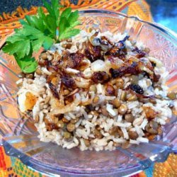 Mujadarah ( lentils With Rice ) Middle East, Palestine recipe