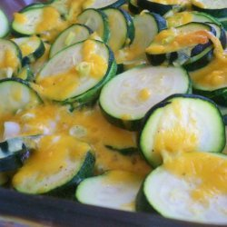 Baked Zucchini With Cheddar Cheese recipe