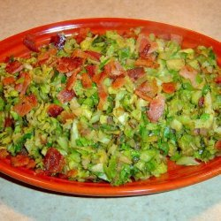 Shredded Brussels Sprouts With Bacon and Onions recipe