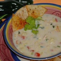Poblano Corn Chowder With Chicken recipe