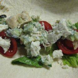 Healthy Greek Style Chicken Tacos recipe