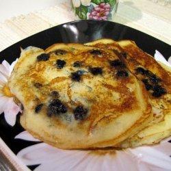 Blueberry Sour Cream Pancakes recipe
