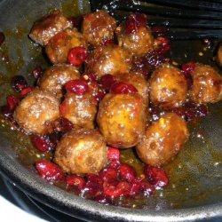 Cranberry Glazed Meatballs recipe