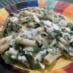 3 Cheese Chicken Spinach Pasta Bake recipe