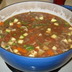 Barb's Hearty Beef and Vegetable Soup recipe