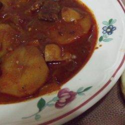 Crock Pot Beef Goulash Soup recipe