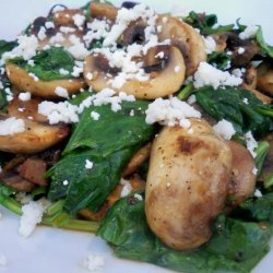 Sauteed Spinach With Mushrooms and Garlic recipe