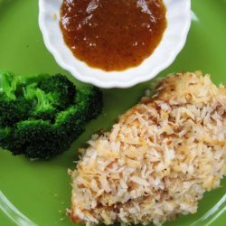 Crispy Coconut Chicken With a Apricot Curry Dipping Sauce recipe