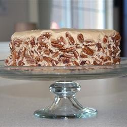 Caramel Cake with Caramel Nut Frosting recipe
