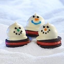 Melting Snowmen OREO Cookie Balls recipe