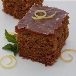 Gingerbread Cake with Lemon Glaze recipe