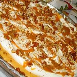 Swirled Pumpkin and Cream Cheese Cheesecake recipe
