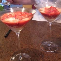 Strawberries Flambeed in Vodka with Hot Ice Cream recipe