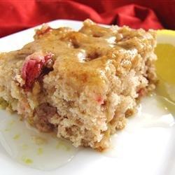 Rhubarb Spice Cake with Lemon Sauce recipe