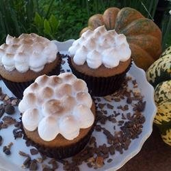 Sweet Potato Cupcakes with Toasted Marshmallow Frosting recipe