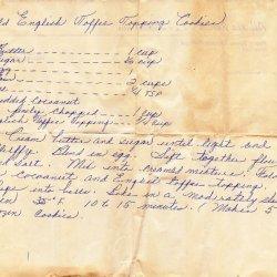 Old English Cookies recipe