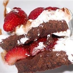 Strawberry Brownie Delight recipe