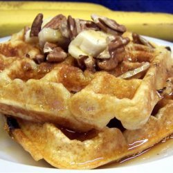 Banana Waffles With Toasted Pecans recipe